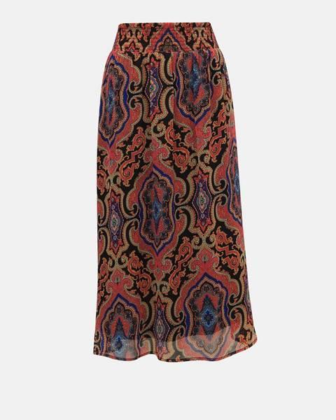 Vínová sukňa Only