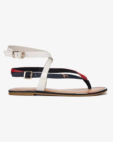 Biele sandále Tommy Hilfiger