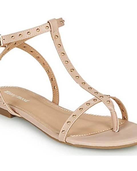 Béžové sandále Moony Mood