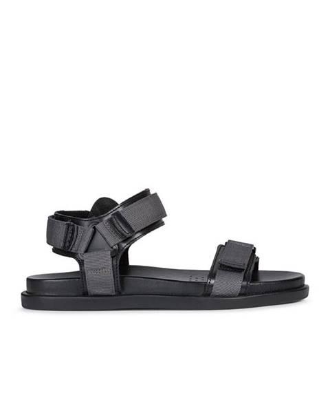 Sivé sandále Geox