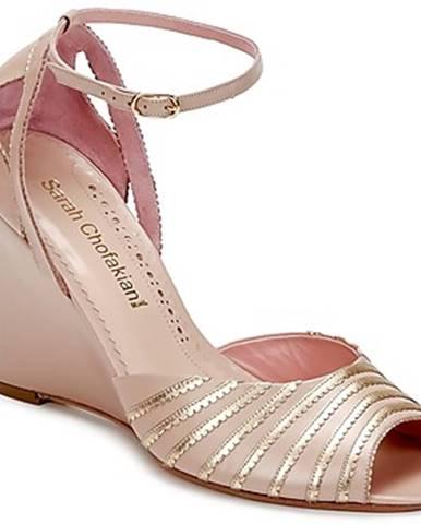 Béžové sandále Sarah Chofakian
