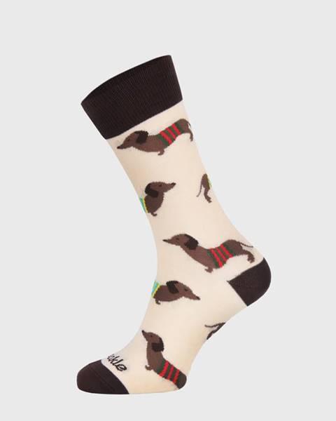 Béžové ponožky Fusakle