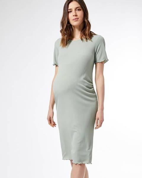Svetlozelené tehotenské šaty Dorothy Perkins Maternity