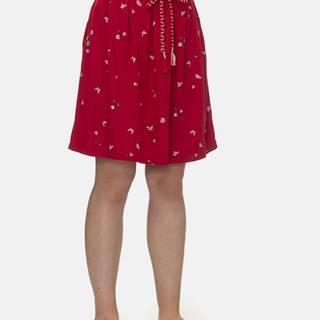 Červená vzorovaná sukňa Ragwear
