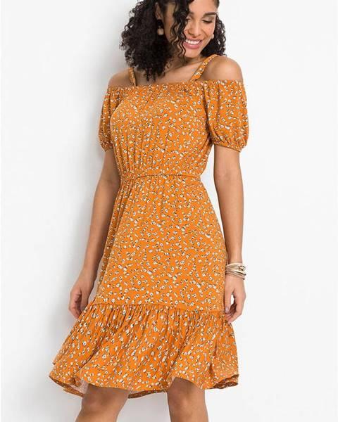 Oranžové letné šaty bonprix