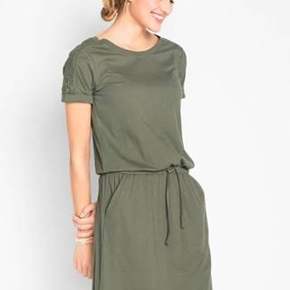Šaty na šnurovanie, krátky rukáv