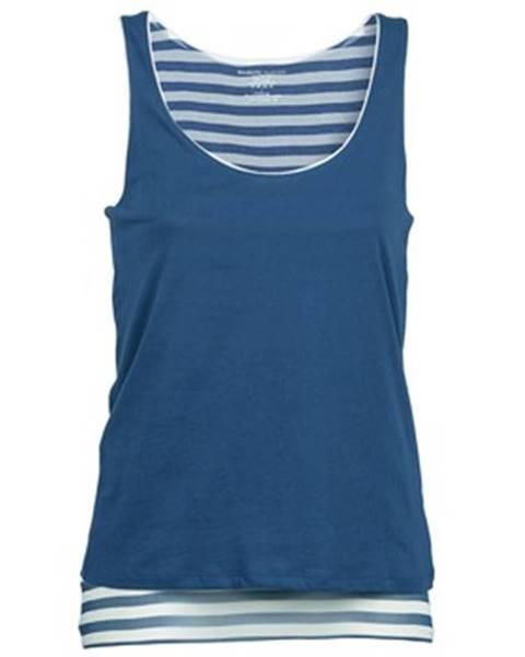 Modré tričko Majestic