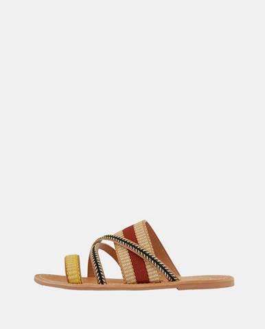 Béžové papuče Pieces