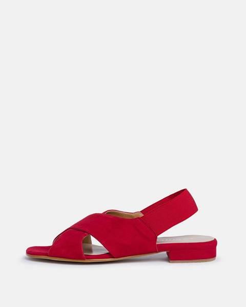 Červené sandále Tamaris