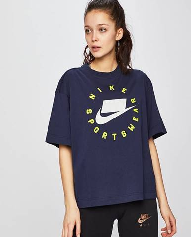 Tmavomodré tričko Nike