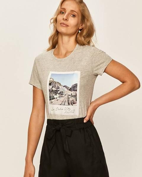 Sivé tričko Only