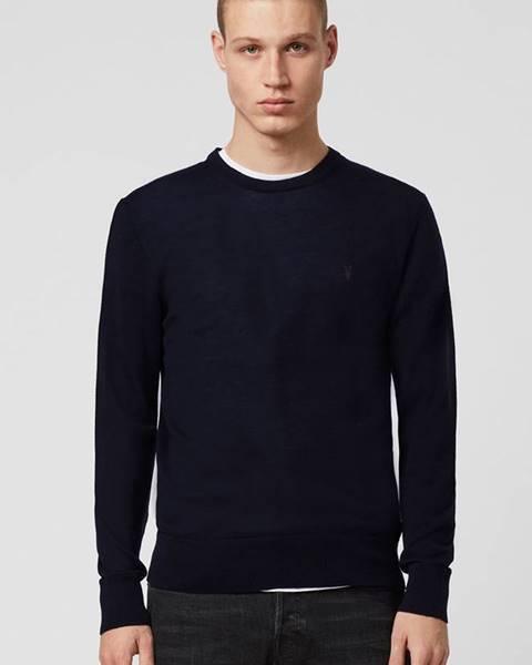 Tmavomodrý sveter AllSaints