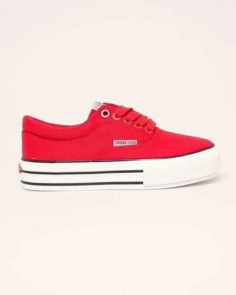 Červené tenisky Cross Jeans