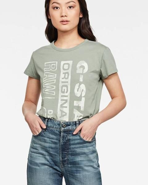 Zelené tričko G-Star Raw