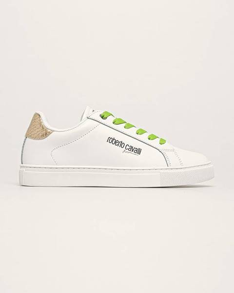 Biele topánky Roberto Cavalli Sport