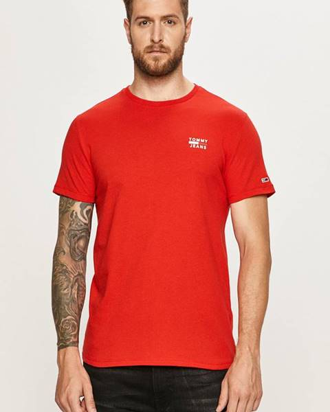 Červené tričko Tommy Jeans