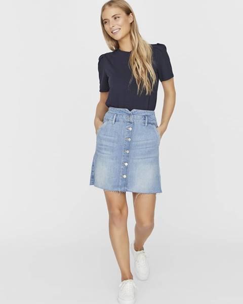 Svetlomodrá sukňa Vero Moda