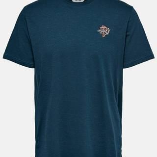 Tmavomodré tričko ONLY & SONS Mag