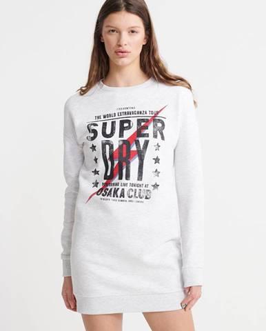 Svetlosivé šaty Superdry