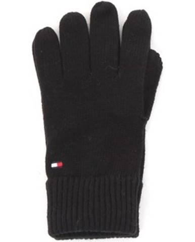 Čierne rukavice Tommy Hilfiger