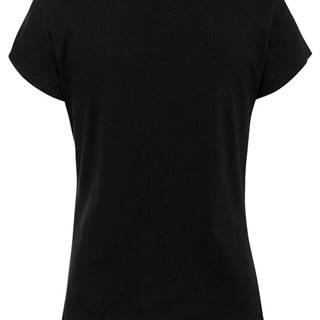 Vrúbkované tričko s čipkou
