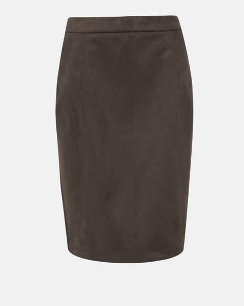 Tmavohnedá sukňa Vero Moda