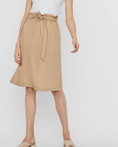 Béžová sukňa Vero Moda